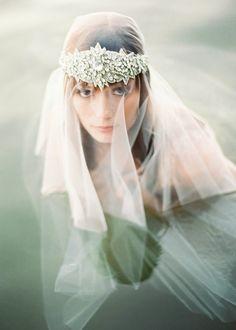 dreamy veil and headpiece... via Fanci Taste  [by Erich McVey]
