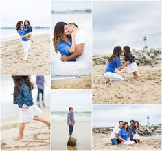 Santa Cruz Beach Family Photos - Green Vintage Photography. Thinking of something similar when we are in Naples in November.