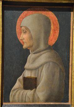 Бергамо. Академия Каррара.  Андреа Мантенья. Св. Бернардин Сиенский. 1450 г.