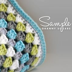 Sweet baby blanket--love these colors (and there is a hat to match!)