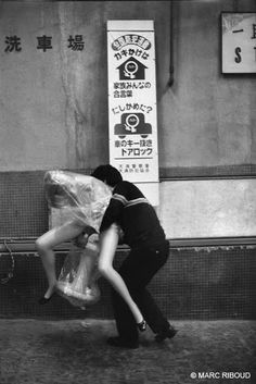 Behind the scenes of a theater, Osaka, 1958 by Marc Riboud