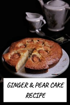 This Ginger Baking Recipes, Cake Recipes, Bengali Food, Pear Cake, Sunday Brunch, High Tea, How To Make Cake, Food Styling, Banana Bread