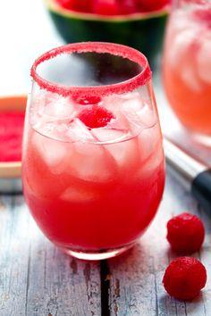 Hard Watermelon Lemonade! This drink screams summertime with fresh watermelon juice,homemade lemonade,malibu rum and triple sec. Come on summer!!!!