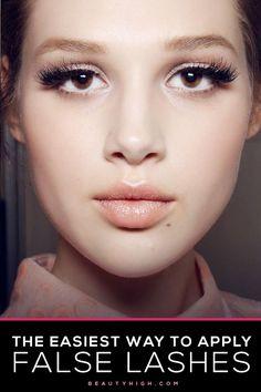 6 Tips That Will Make Applying False Lashes A Whole Lot Easier great false eyelash tips! False Eyelashes Tips, Applying False Lashes, Fake Eyelashes, Eye Makeup Tips, Beauty Makeup, Hair Makeup, Makeup Ideas, Eyelash Tips, Dark Circles Under Eyes