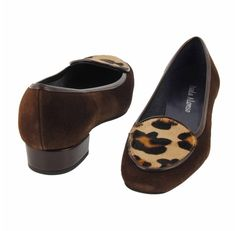 Bailarinas ante marrón con leopardo y charol - Paula Alonso - Tienda online