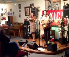 Tara McGovern and Jeffrey C. Capps performing at the coffee house (Dec. Coffee, House, Home Decor, Kaffee, Decoration Home, Home, Room Decor, Cup Of Coffee, Home Interior Design