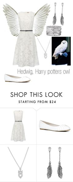 """""""Hedwig, Harry potters owl"""" by gglloyd ❤ liked on Polyvore featuring M&Co, ALDO, La Preciosa, Express, women's clothing, women's fashion, women, female, woman and misses"""