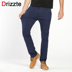 Buy now Drizzte Mens British Style Slim Chino Soft Denim Stretch Jeans Pants Blue Beige White 32 33 34 36 38 just only $26.52 with free shipping worldwide  #jeansformen Plese click on picture to see our special price for you