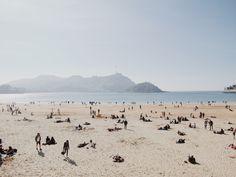San Sebastian's Beach. Art Print by LaMenicia. - X-Small