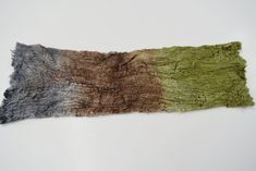Mulberry Silk Cocoon Sheet Fabric Hand Dyed Green Brown Grey Mulberry Silk, Texture Art, Green And Brown, Needle Felting, Fiber Art, Textiles, Colours, Fabric, Tejido