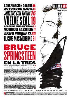 Sumario. Bruce Springsteen (Dibujo de Raúl Arias).