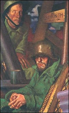 """Weimar: Art of the First World War by Colin Gill """"The Captive"""", 1918."""