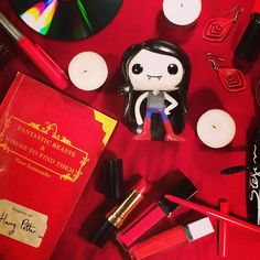 I wanna drink the red from your pretty pink face... #Marceline #adventuretime #geek #flatlays #red