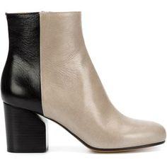 Maison Margiela colour block ankle boots
