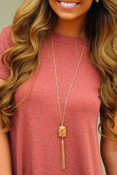 Moon Rock Necklace: Marble Brown #shophopes