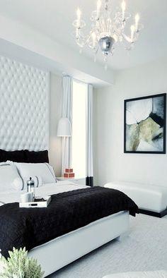Modern Glam Bedroom - Tufted Headboard - Two Zero One - Alex Svetlovsky & Stephanie White
