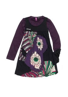 DESIGUAL - Girls' Theta Dress  (black)