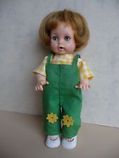 "Vintage IDEAL1964 TEARIE DEARIE 9"" doll Original dungarees and shoes."
