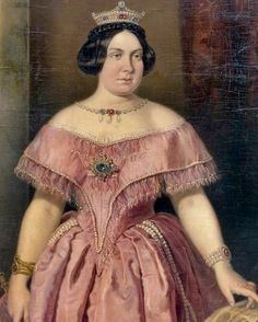 Isabela II of Spain by Federico de Madrazo y Kuntz Ball Dresses, Ball Gowns, Thomas Couture, European Dress, Civil War Dress, Royal Queen, Isabel Ii, Royal House, Queen Victoria