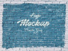 Paper Logo, Wall Logo, Brick Paneling, 3d Logo, Retro Logos, Psd Templates, Brick Wall, Mockup, Graffiti