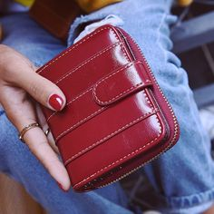 Bi Fold Stitching Faux Leather Small Wallet #>=#>=#>=#>=#> Click on the pin to check out discount price, color, size, shipping, etc. Save and like it!