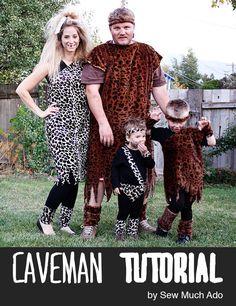 Sew a caveman costume