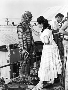 Disney animator Millicent Patrick never received the deserved credit for her role in designing the iconic Gill-man costume for Creature from the Black Lagoon Classic Monster Movies, Classic Horror Movies, Classic Monsters, Famous Monsters, Sea Monsters, The Frankenstein, Pulp, Black Lagoon, Vintage Horror