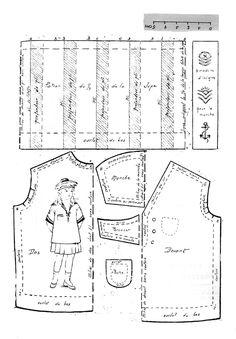 PAR AMOUR DES POUPEES :: 1919-02 Costume marin pour Bleuette
