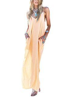V-neck Spaghtti Strap Sexy Transparent Chiffon Long Beach Dresses - O Yours Fashion - 1 Day Dresses, Cute Dresses, Summer Dresses, Beach Dresses, Chiffon Dress, Lace Dress, Fabulous Dresses, Cotton Dresses, Party Dress