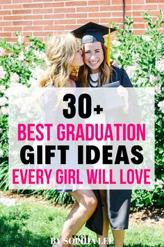 31 Best High School Graduation Gifts For Her Special Day - By Sophia Lee Outdoor Graduation Parties, Graduation Party Centerpieces, Graduation Party Themes, High School Graduation Gifts, Graduation Party Decor, Grad Parties, Grad Gifts, Diy 2019, Senior Gifts