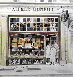 Alfred Dunhill Duke StreetIn the coming years, the shop would be enlarged to the premises on 30 and 31 Duke street and today the store still occupies the same space, although the building had been re-erected in the 1950's (after the original building was almost completely destroyed by two German landmines during the WWII) and the entrance has now moved around the corner to 48 Jermyn Street.