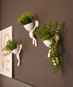 Indoor Vertical Gardening Tips and Ideas Organic gardening isn't always about food to eat. Some people enjoy growing flowers and other forms of plant life as well. House Plants Decor, Plant Decor, Indoor Garden, Indoor Plants, Deco Cool, Esstisch Design, Inside Plants, Succulent Pots, Ceramic Planters
