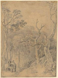 Thomas Gainsborough | Forest Landscape | Drawings Online | The Morgan Library…