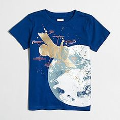 Factory boys' glow-in-the-dark satellite storybook T-shirt