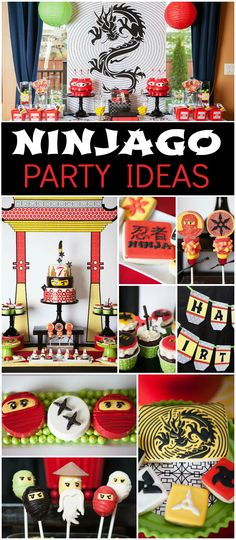 You must see this Lego Ninjago party with incredible details! See more party ideas at CatchMyParty.com!
