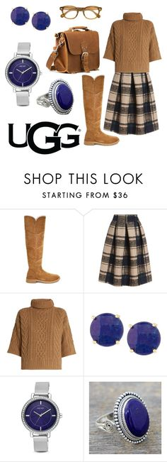 """The New Classics With UGG: Contest Entry Sassy Secretary"" by kej110-1 ❤ liked on Polyvore featuring UGG, MaxMara, Panacea, Nine West, NOVICA, Moscot and ugg"