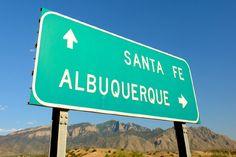 Turquoise Trail links Santa Fe and Albuquerque, NM