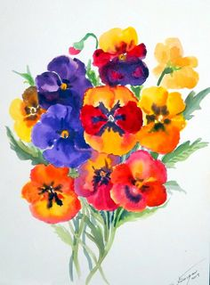 Hey, I found this really awesome Etsy listing at https://www.etsy.com/listing/127735913/pansies-original-watercolor-painting-12