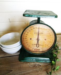 Vintage Farm Scale. old things often look like home and always make me smile