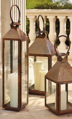 Notable for their traditional appearance, our large Solano Lanterns combine classic design with modern craftsmanship techniques. | Frontgate: Live Beautifully Outdoors