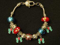 jewelry, charms, bracelet, necklace, gold, red, blue, bows, pandora, beads  Visit:  http://www.gladisparkle.com