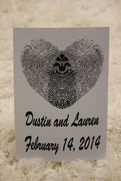 Personalized Thumb Print Heart Artwork With Your Names and Date, by ImagineArtworx