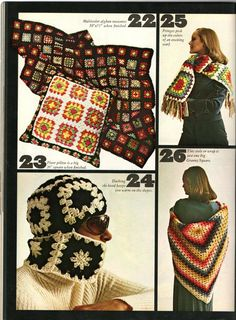 Anything Knitted and Crocheted: Granny Squares from Family Circle-July 1974