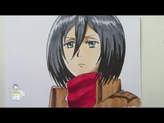 How to draw Mikasa Ackerman ミカサ・アッカーマン