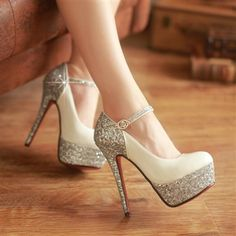 2ab0f519c8a Tough Girl Color Matching Round Toe Waterproof Ultra 14cm High Heel Women s  Shoes Sexy Nightclub Bride Crystal Shoe with Rhinestone Buckle Wedding  Shoes ...