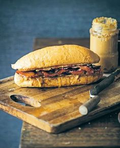 Fool's gold sandwich recipe from Man Food by Billy Law | Cooked. Bacon, PB & J, maple syrup