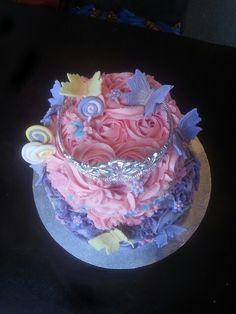2 tier rosette princess butterflies. Smitten cakes