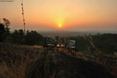 Getting ready for Sun Downers at hill top near Kanha Earth Lodge near Kanha National Park.  To know more about Kanha, visit http://www.kanhaearthlodge.com/