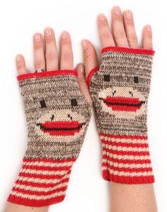 Handwarmers ... Sock Monkey