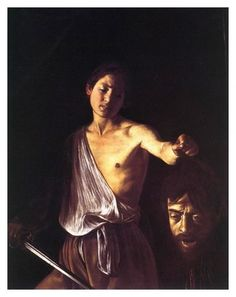 CARAVAGGIO (1571-1610) 'David with the Head of Goliath', 1610 (oil on canvas)
